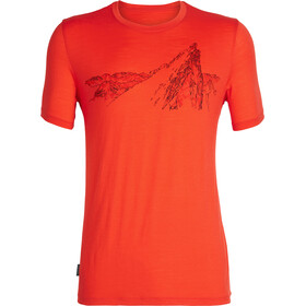 Icebreaker Tech Lite La Meije SS Crewe Shirt Herr chili red